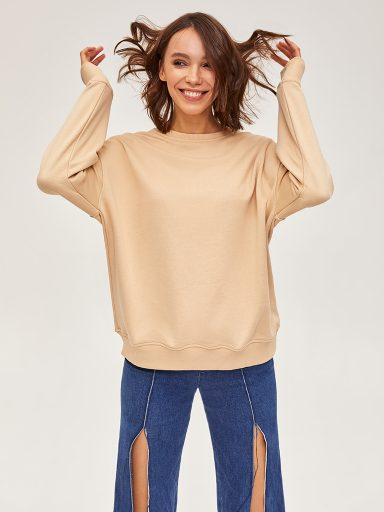 Bluza beżowa oversize Love&Live (zdjęcie 9)