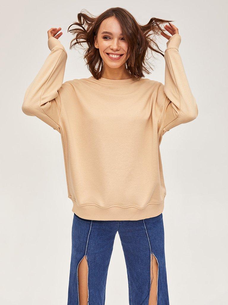 Bluza beżowa oversize Love&Live