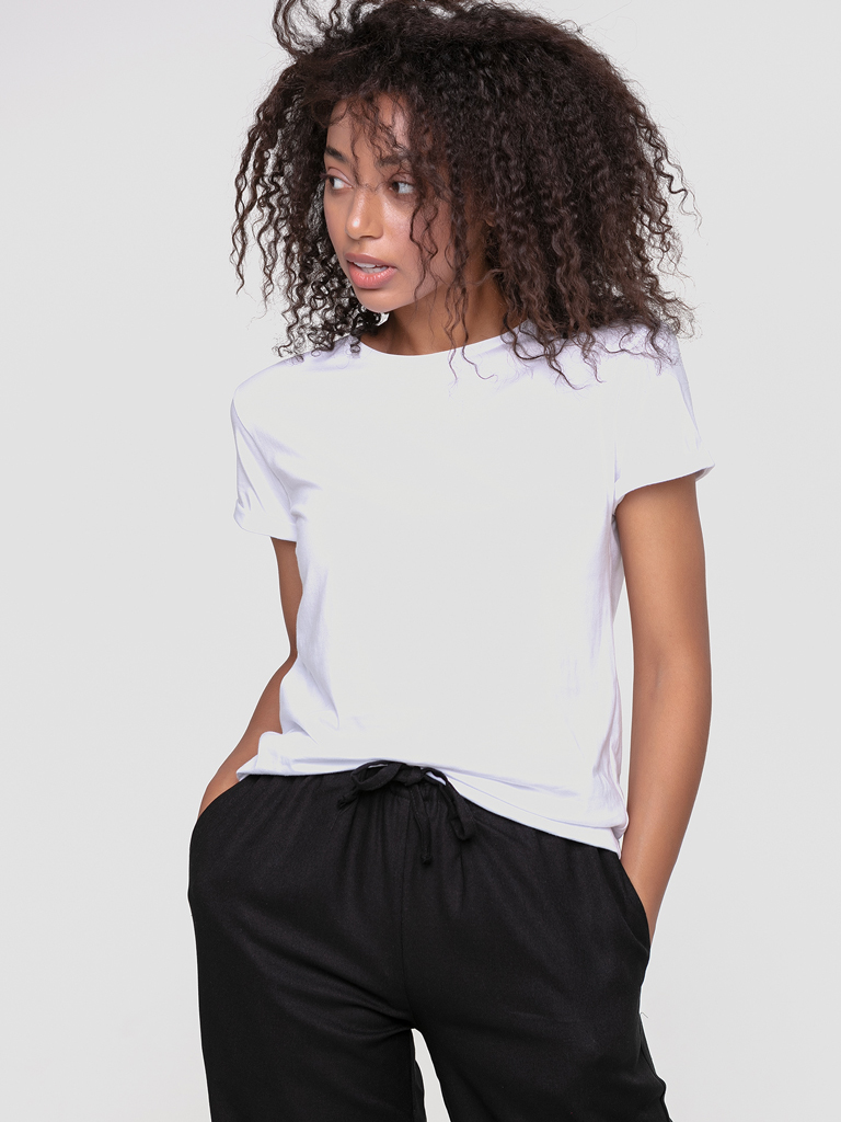 T-shirt biały Katarina Ivanenko