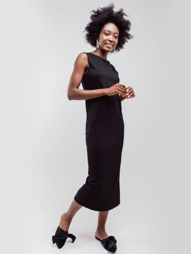 Sukienka czarna z wycięciem na plecach Love&Live (zdjęcie 12)