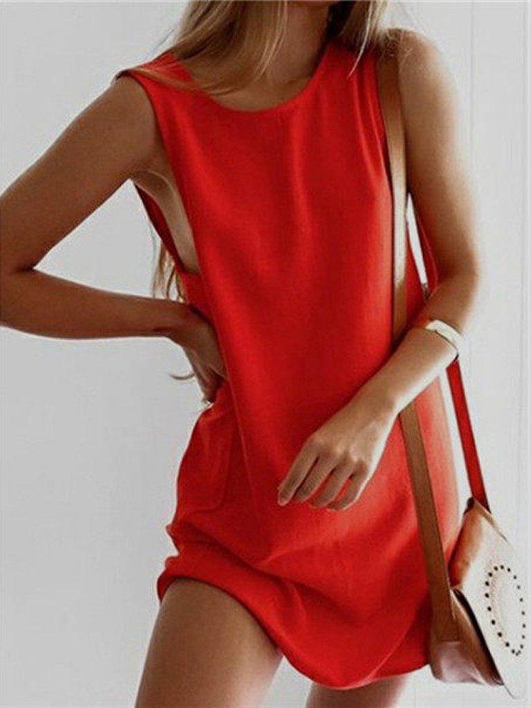 Sukienka koszulkowa czerwona Love&Live