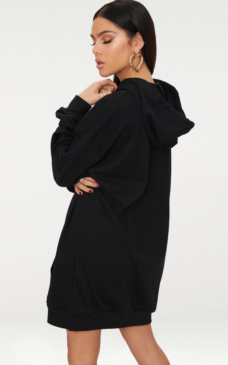 Sukienka dresowa z kapturem czarna Love&Live (zdjęcie 2)
