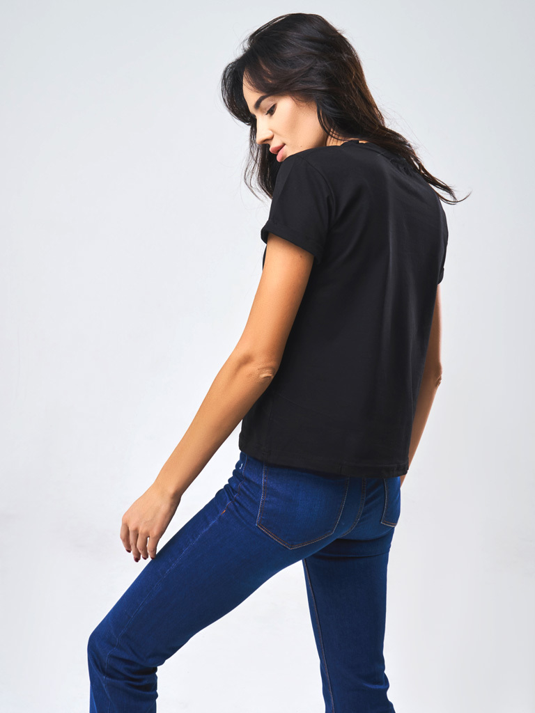 T-shirt czarny Katarina Ivanenko (zdjęcie 3)