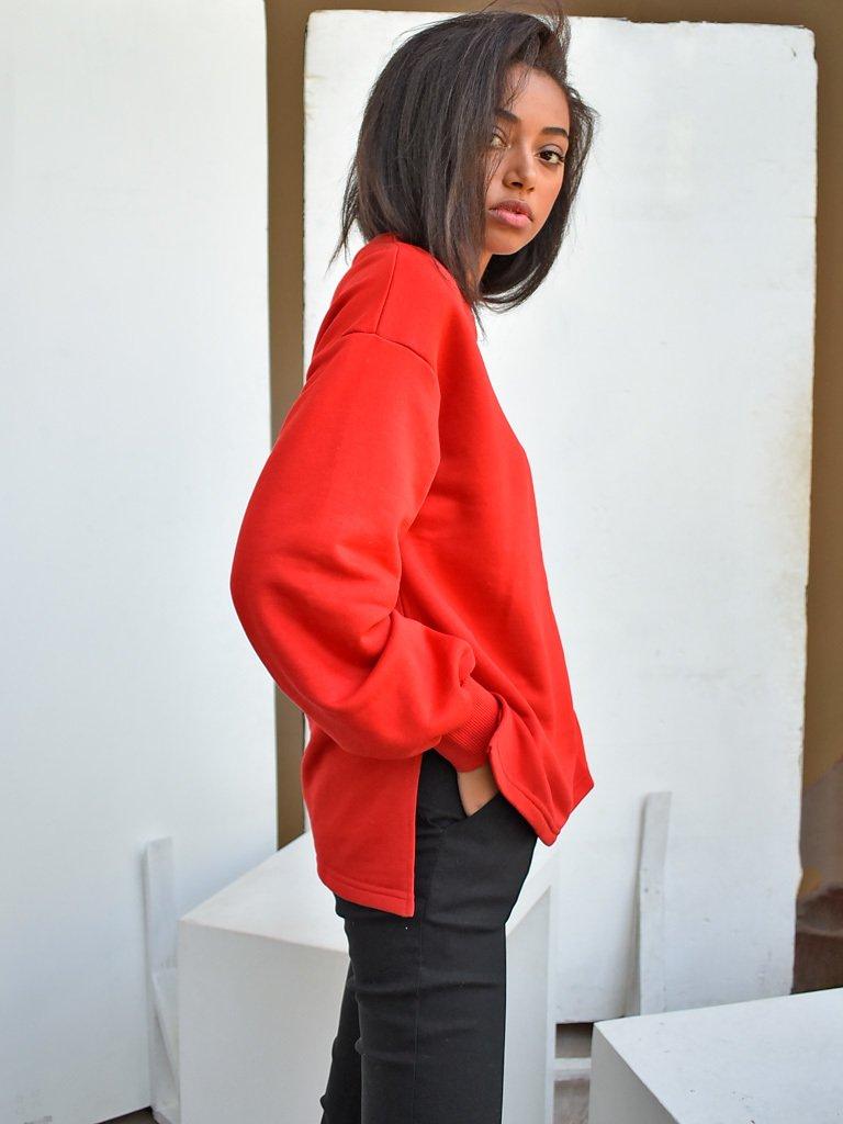 Bluza czerwona oversize Katarina Ivanenko (zdjęcie 3)