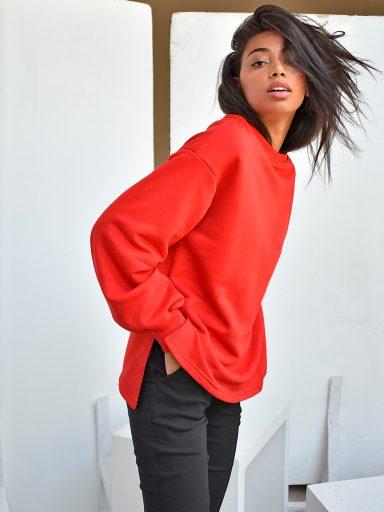 Bluza czerwona oversize Katarina Ivanenko (zdjęcie 7)