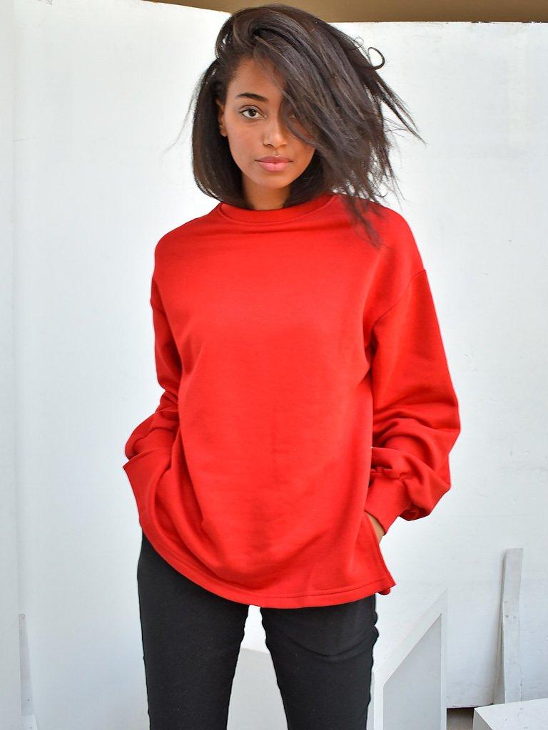 Bluza czerwona oversize Katarina Ivanenko (zdjęcie 2)