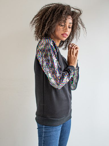 Bluza zakładana przez głowę z cekinami Katarina Ivanenko (zdjęcie 4)