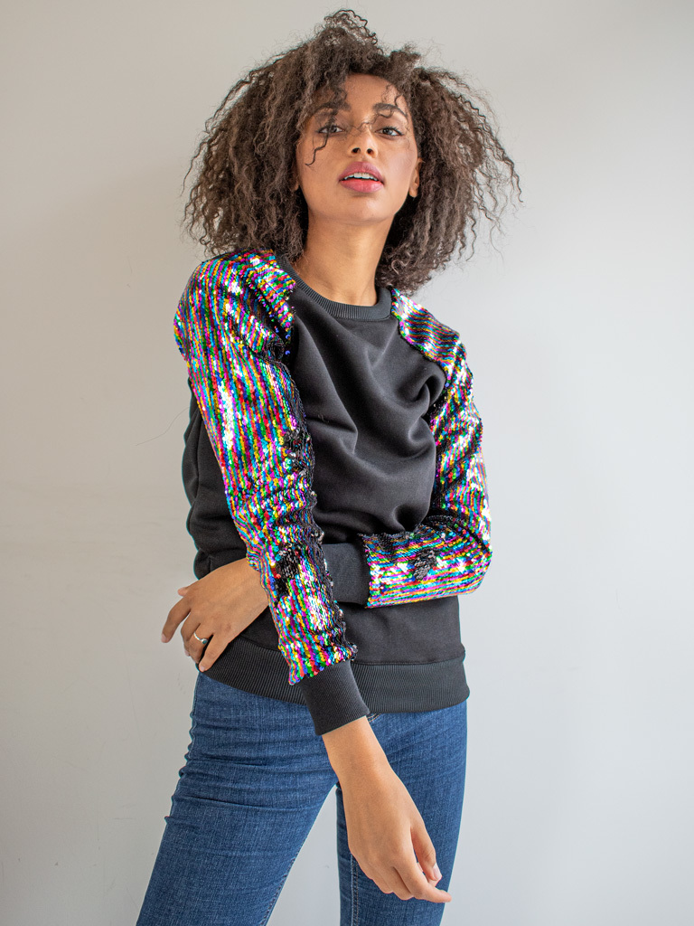 Bluza zakładana przez głowę z cekinami Katarina Ivanenko (zdjęcie 3)