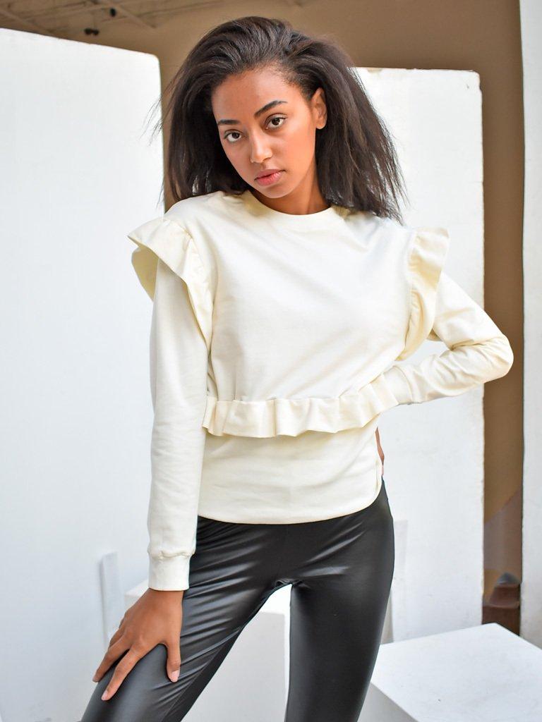 Bluza kremowa z falbanami Katarina Ivanenko (zdjęcie 2)