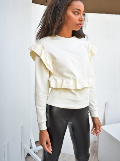 Bluza kremowa z falbanami Katarina Ivanenko (zdjęcie 15)
