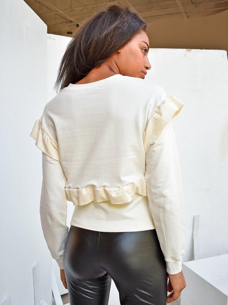 Bluza kremowa z falbanami Katarina Ivanenko (zdjęcie 3)