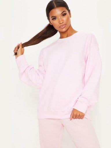Bluza różowa oversize Katarina Ivanenko (zdjęcie 10)