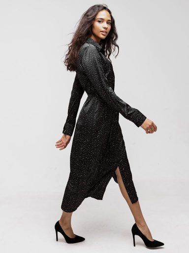 Sukienka koszulowa czarna Katarina Ivanenko (zdjęcie 9)