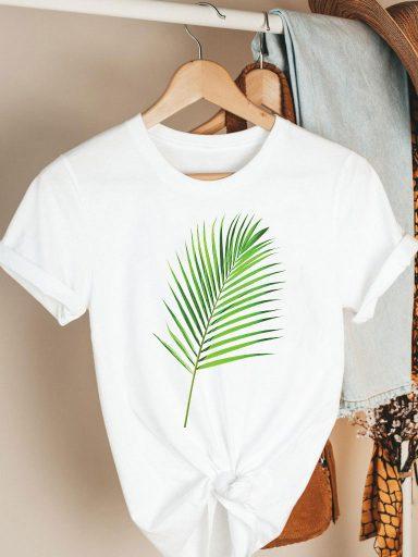 T-shirt biały Green Katarina Ivanenko (zdjęcie 7)