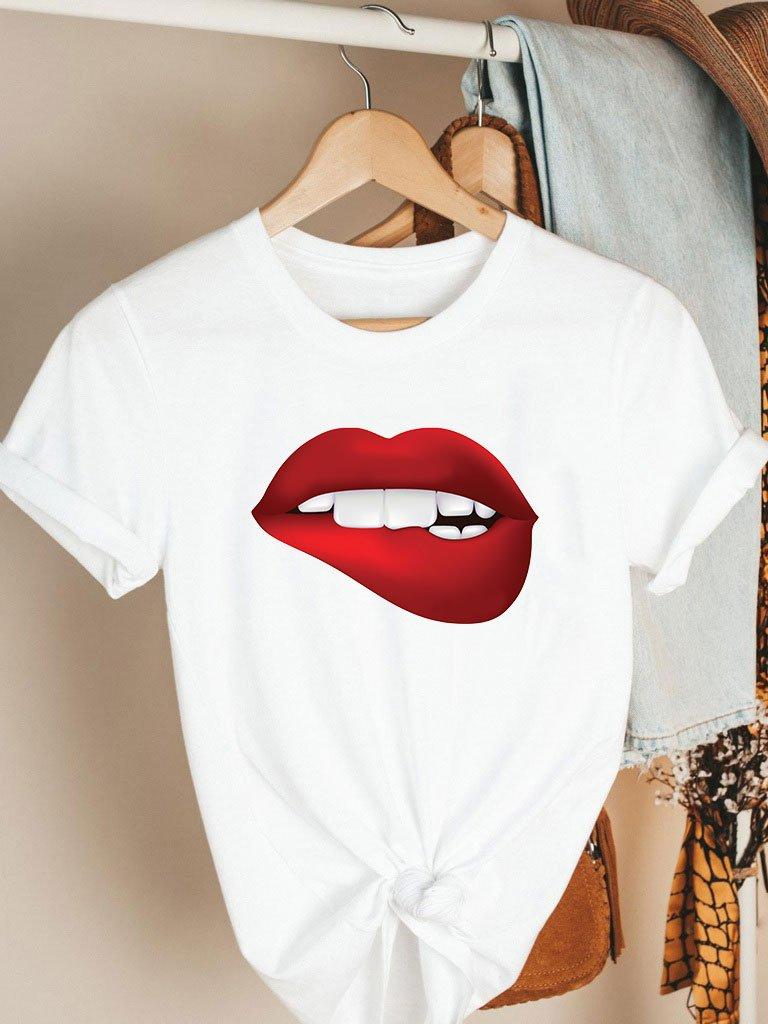 T-shirt biały RED LIPS Katarina Ivanenko