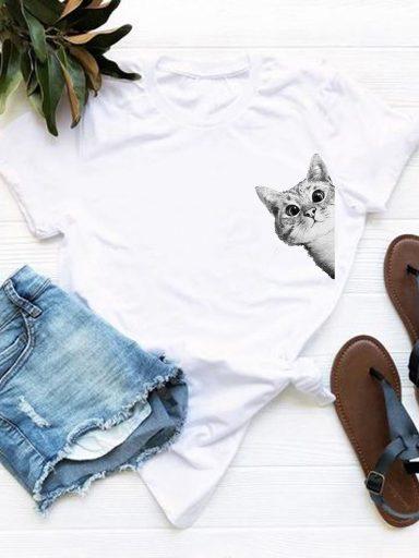 T-shirt biały Gospodyni? Love&Live (zdjęcie 5)