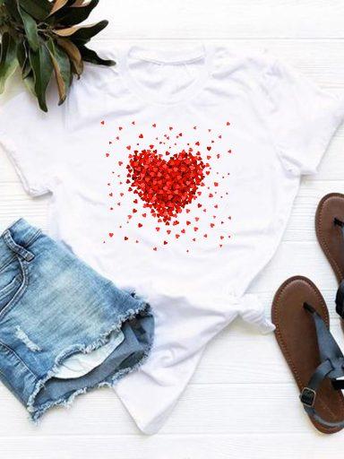 T-shirt biały kawałki miłości Love&Live (zdjęcie 11)