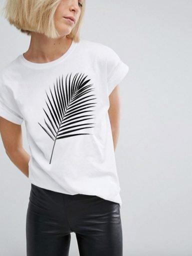 T-shirt biały PALM Katarina Ivanenko (zdjęcie 6)