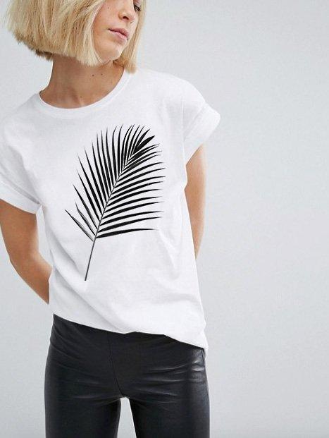 T-shirt biały PALM Katarina Ivanenko