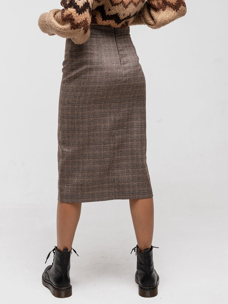 Spódnica ołówkowa w kratkę Katarina Ivanenko (zdjęcie 2)