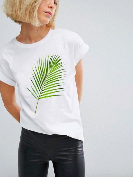 T-shirt biały Green Katarina Ivanenko