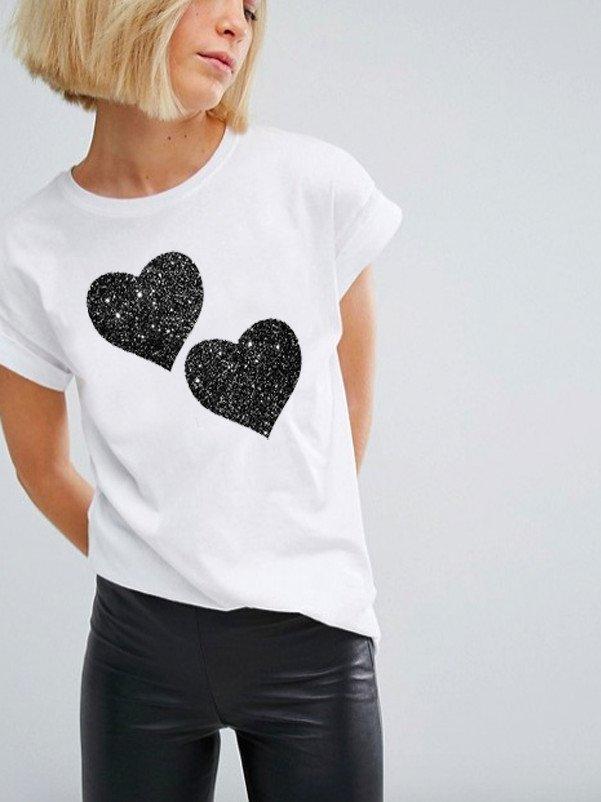 T-shirt biały Together Katarina Ivanenko