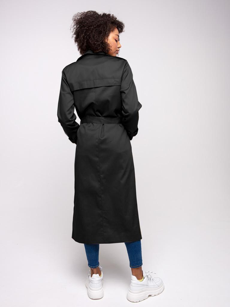 Trencz długi czarny Katarina Ivanenko (zdjęcie 4)