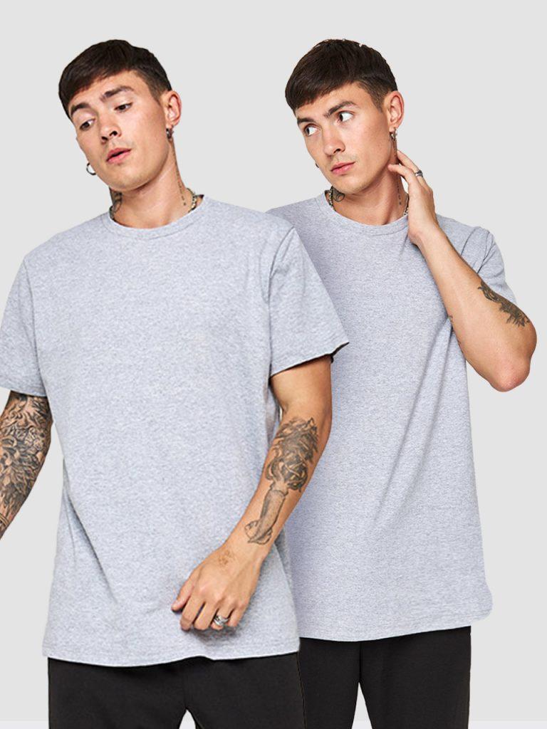 Zestaw szarych t-shirtów z okrągłym dekoltem 2 szt. Love&Live