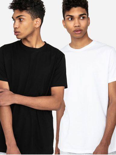 Zestaw t-shirtów z okrągłym dekoltem 2 szt. (biały, czarny) Love&Live (zdjęcie 5)