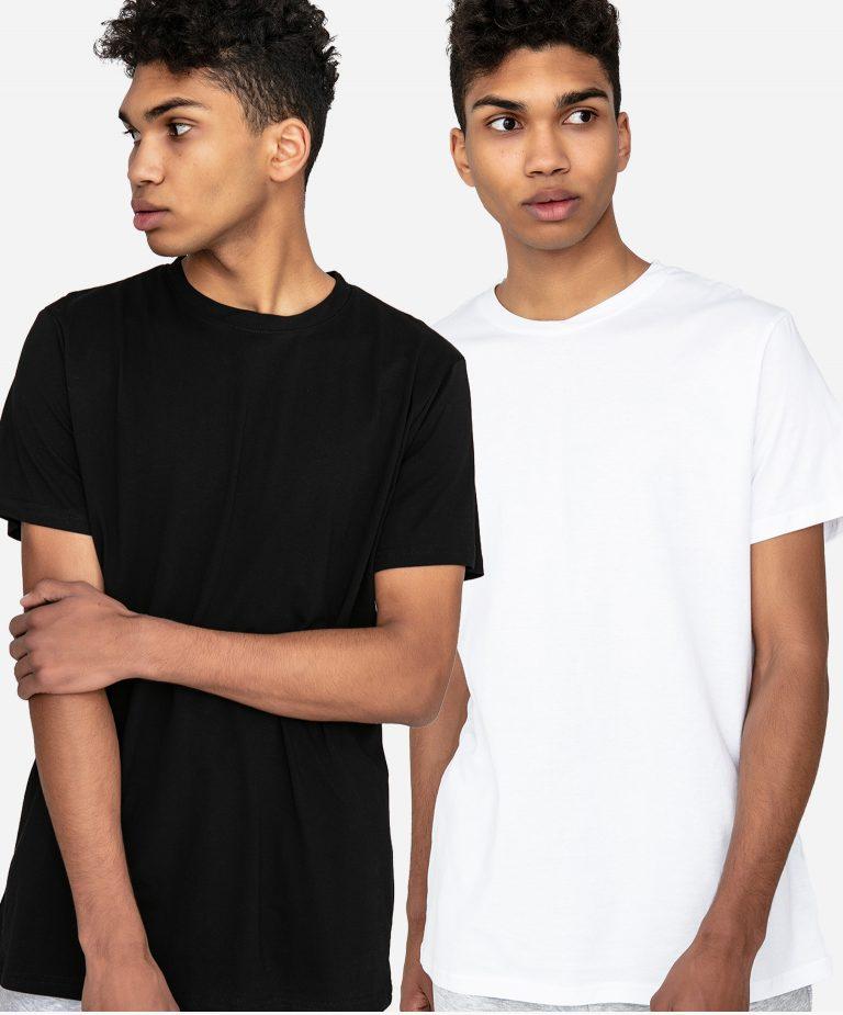 Zestaw t-shirtów z okrągłym dekoltem 2 szt. (biały, czarny) Love&Live