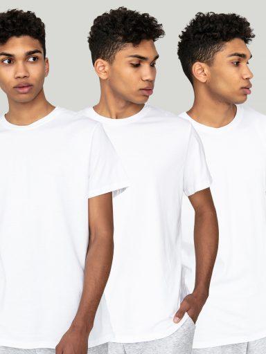 Zestaw t-shirtów białych z okrągłym dekoltem 3 szt. Love&Live