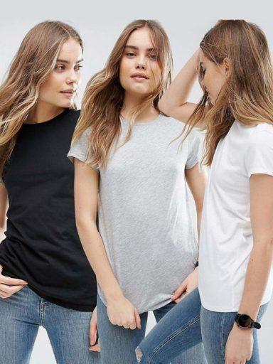 Zestaw t-shirtów 3 szt. (biały, szary, czarny) Love&Live (zdjęcie 2)