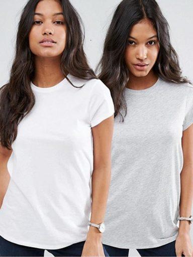 Zestaw t-shirtów 2 szt. (biały, szary) Love&Live (zdjęcie 20)