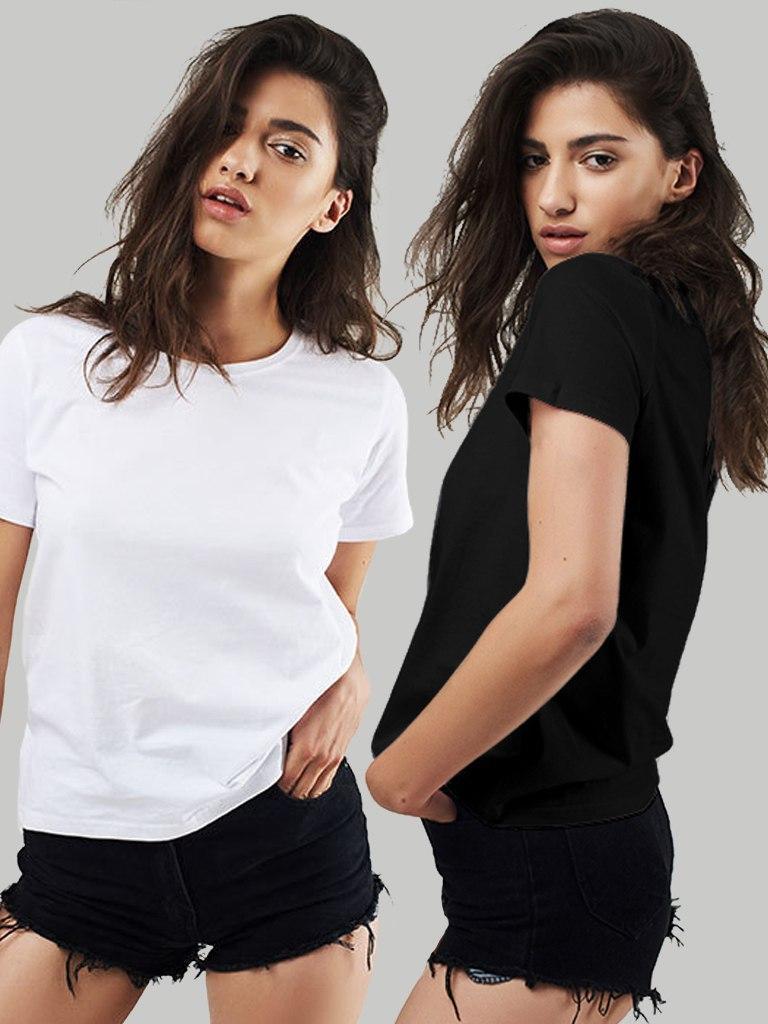 Zestaw t-shirtów 2 szt. (biały, czarny) Love&Live