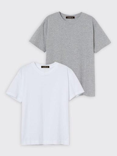 Zestaw t-shirtów 2 szt. (biały, szary) Love&Live