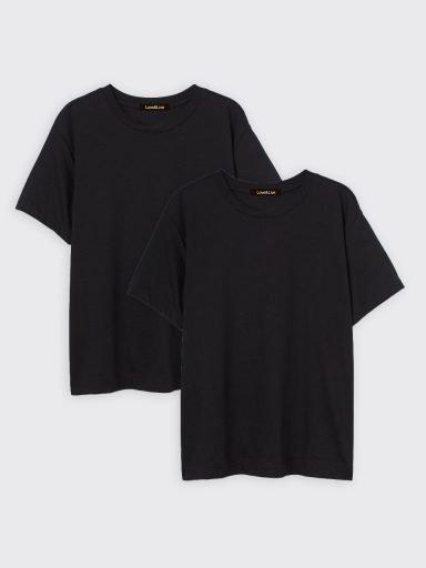 Zestaw t-shirtów czarnych 2 szt. Love&Live