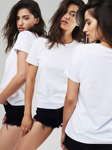 Zestaw t-shirtów białych 3 szt. Love&Live (zdjęcie 13)