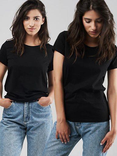Zestaw t-shirtów czarnych 2 szt. Love&Live (zdjęcie 8)