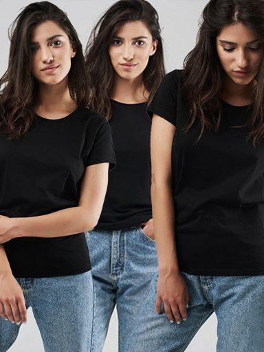 Zestaw t-shirtów czarnych 3 szt. Love&Live (zdjęcie 17)