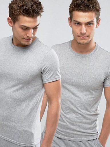 Zestaw szarych t-shirtów z okrągłym dekoltem Love&Live (zdjęcie 3)