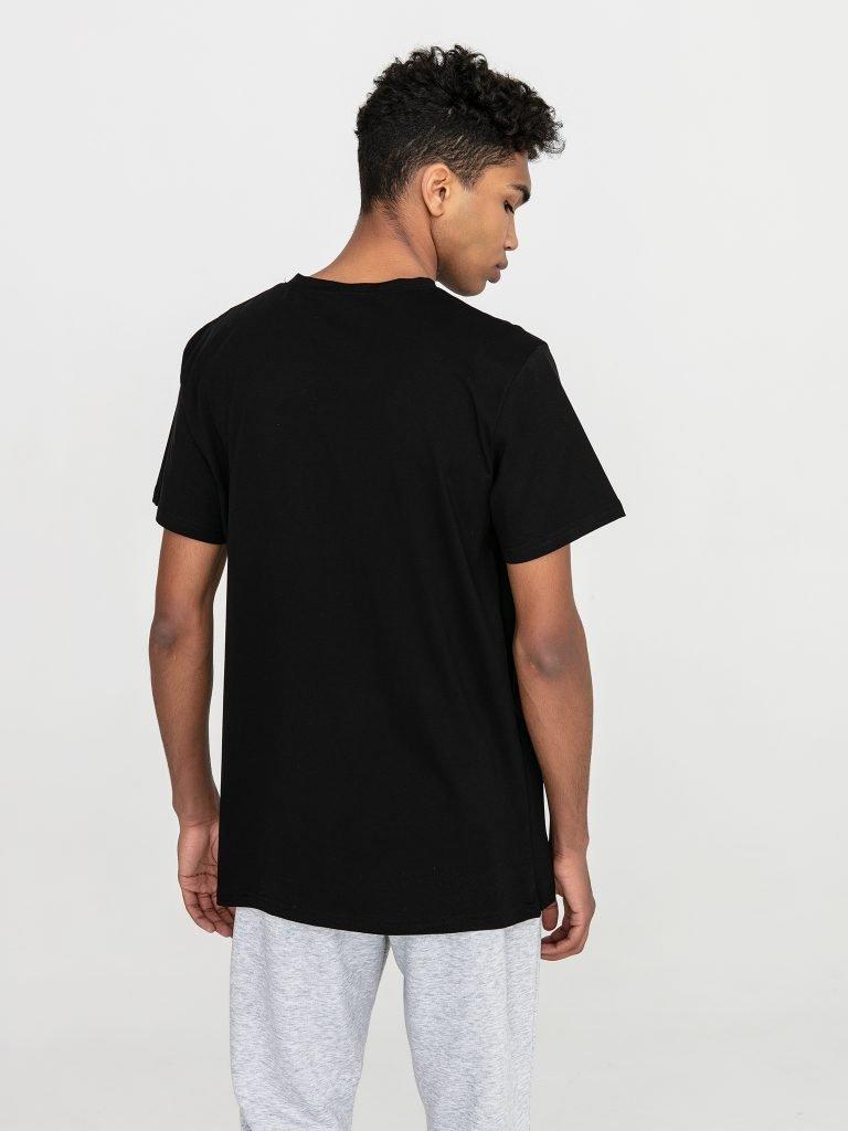 Czarny t-shirt męski z okrągłym dekoltem Love&Live (zdjęcie 3)