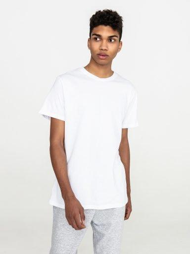 Biały t-shirt męski z okrągłym dekoltem Love&Live (zdjęcie 3)