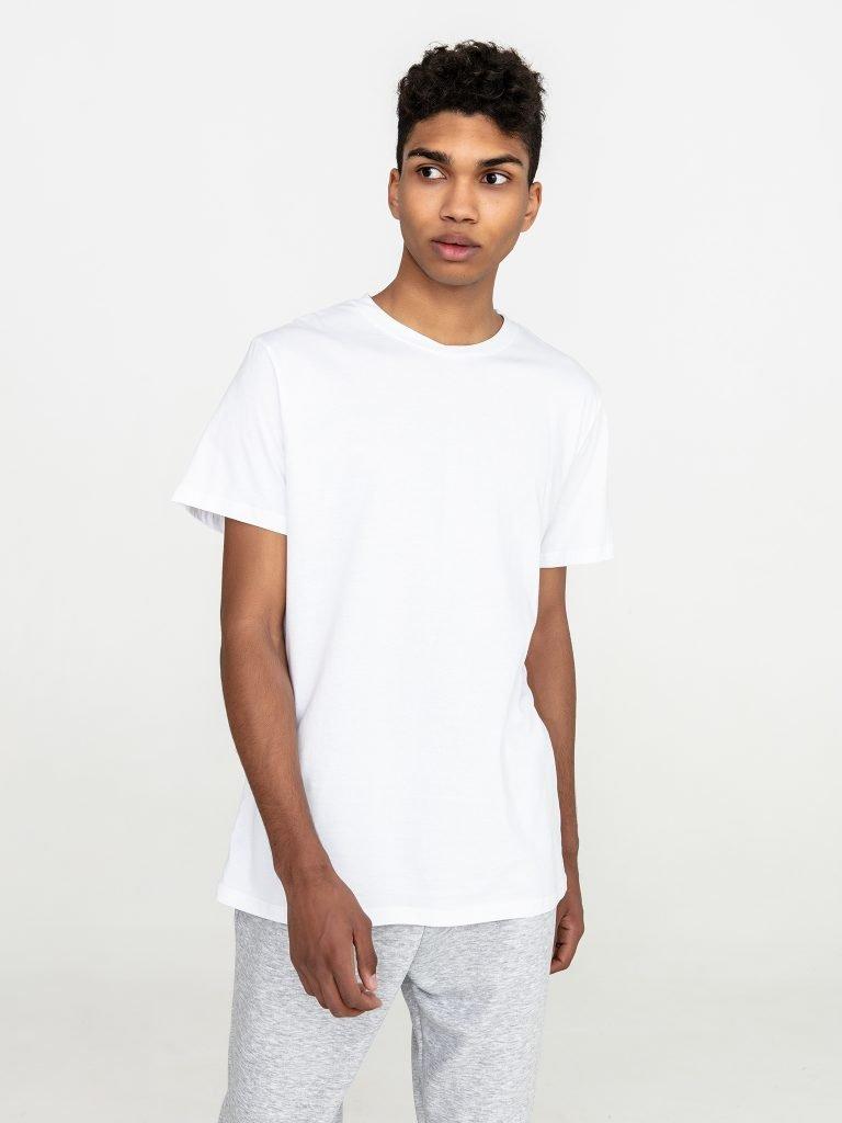 Biały t-shirt męski z okrągłym dekoltem Love&Live