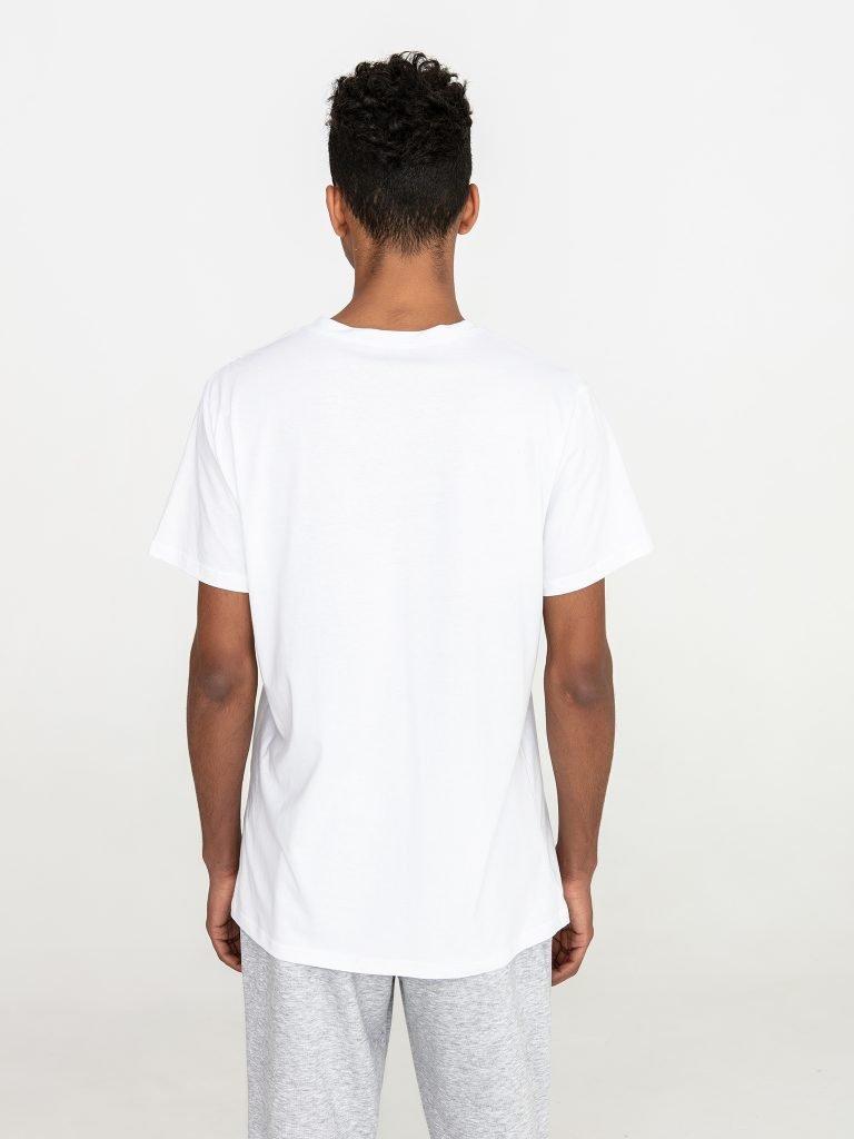 Biały t-shirt męski z okrągłym dekoltem Love&Live (zdjęcie 4)