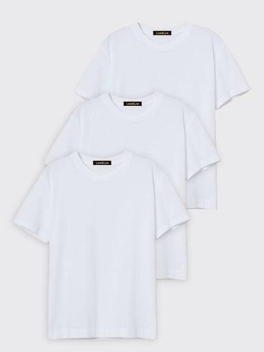 Zestaw t-shirtów białych 3 szt. Love&Live