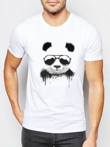Biały t-shirt męski Cool panda Love&Live (zdjęcie 3)
