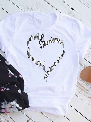 T-shirt biały Ulubiona melodia Love&Live (zdjęcie 10)