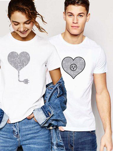 Koszulki dla par komplet 2 szt. Idealna para Love&Live (zdjęcie 3)