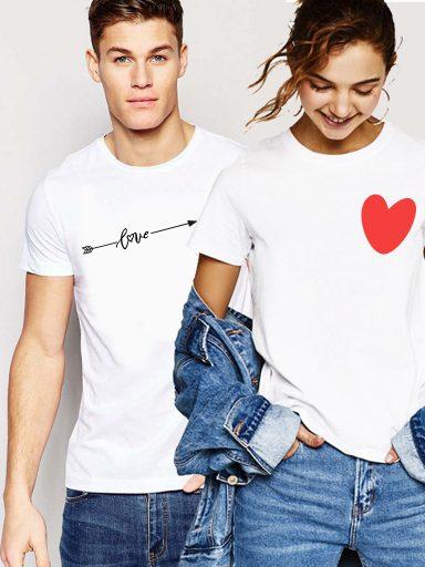 Koszulki dla par komplet 2 szt. Love - heart Love&Live (zdjęcie 2)