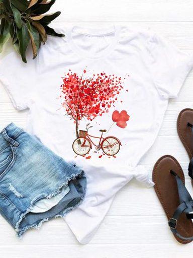 T-shirt biały Drzewo miłości Love&Live (zdjęcie 19)